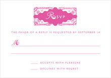 custom response cards - bright pink - love (set of 10)