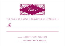 custom response cards - burgundy - love (set of 10)