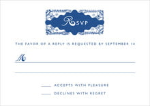 custom response cards - deep blue - love (set of 10)