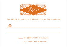 custom response cards - spice - love (set of 10)