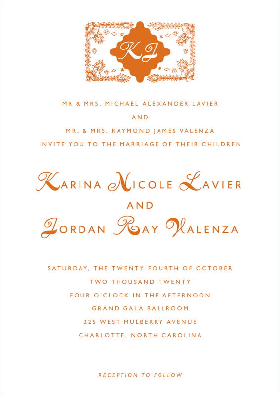 custom invitations - spice - love (set of 10)
