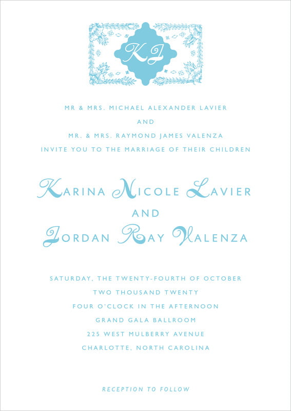 custom invitations - sky - love (set of 10)