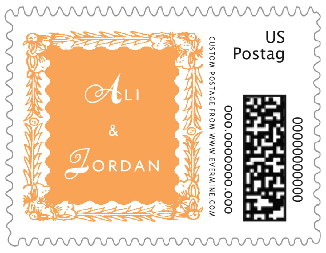 small custom postage stamps - melon - love (set of 20)