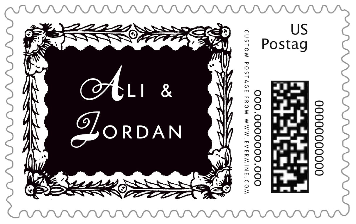 custom large postage stamps - tuxedo - love (set of 20)