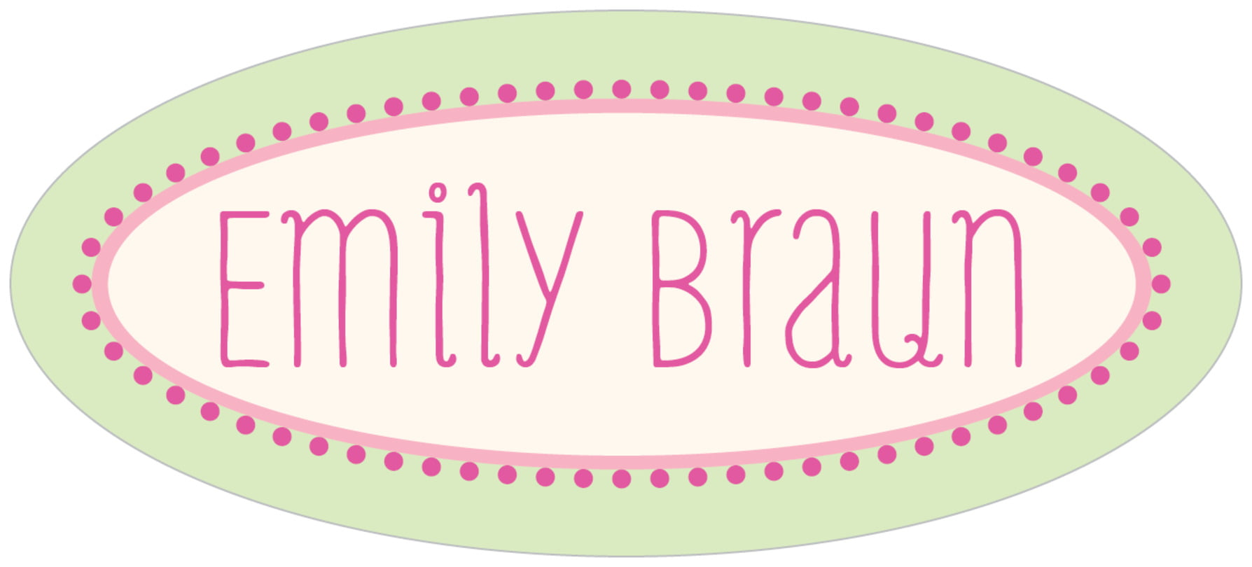 custom oval labels - island green - lolly (set of 30)