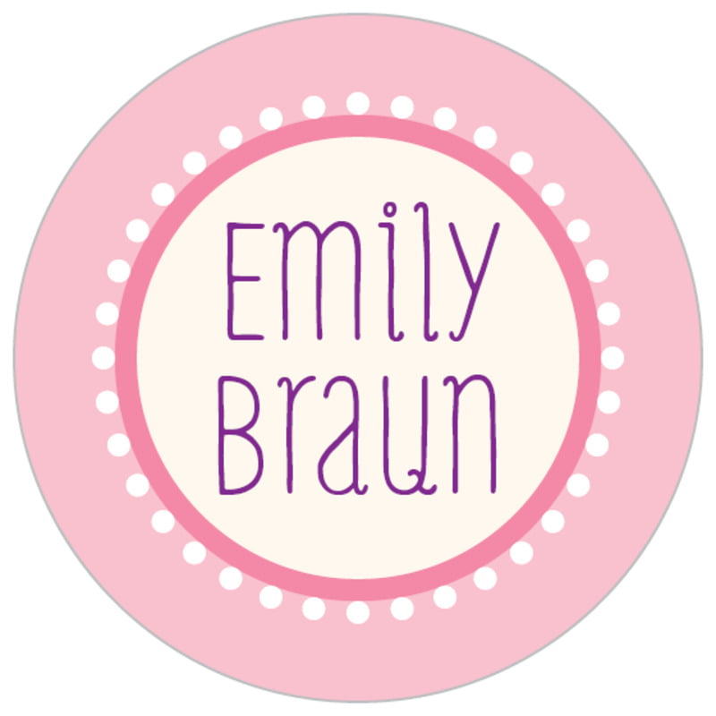 custom small circle labels - pale pink - lolly (set of 70)