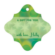 Merry & Bright fancy diamond gift tags