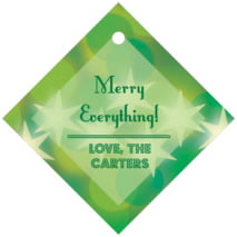 Merry & Bright Diamond Hang Tag In Green