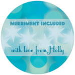 Merry & Bright small circle gift labels