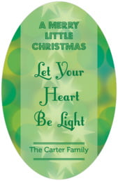 Merry & Bright tall oval labels