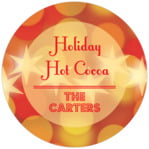 Merry & Bright circle labels