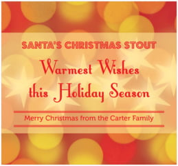 Merry & Bright large rectangle labels