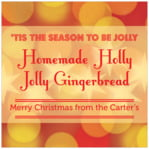 Merry & Bright square labels