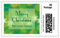 Merry & Bright large postage stamps