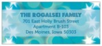 Merry & Bright hanukkah address labels