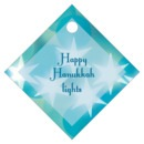 Merry & Bright Small Diamond Hang Tag In Ice Blue