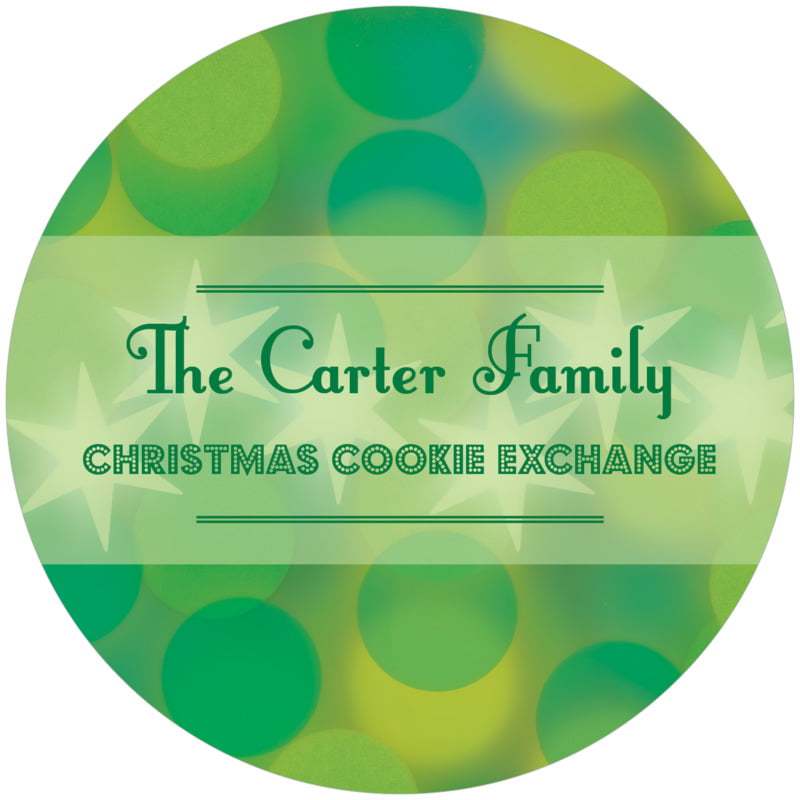 round holiday coasters - green - merry & bright (set of 12)