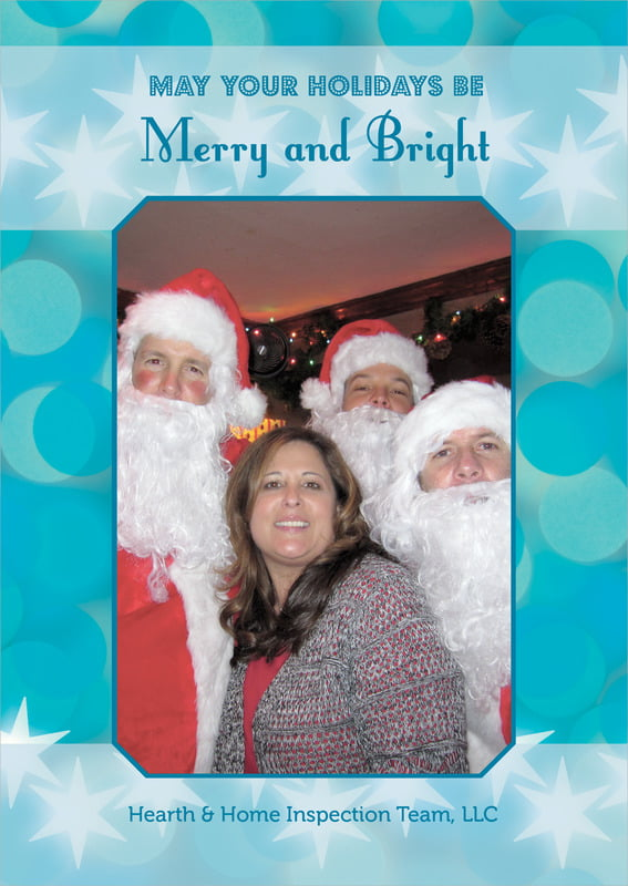holiday cards - ice blue - merry & bright (set of 10)