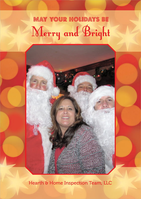 holiday cards - red - merry & bright (set of 10)