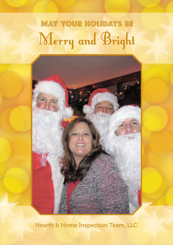 holiday cards - sunburst - merry & bright (set of 10)