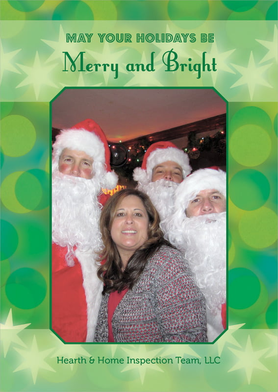 holiday cards - green - merry & bright (set of 10)