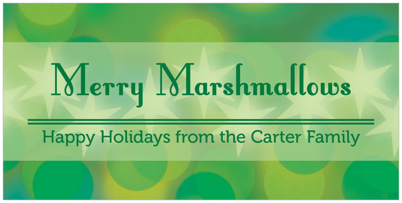 small rectangular food/craft labels - green - merry & bright (set of 24)