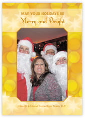 Merry & Bright photo cards - vertical