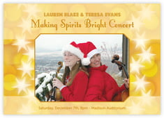 Merry & Bright photo cards - horizontal