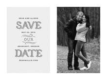 custom save-the-date cards - stone - country modern (set of 10)