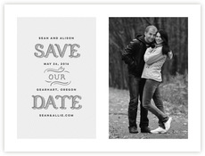 Country Modern Save The Date Card In Stone