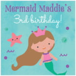Mermaid baby labels and stickers