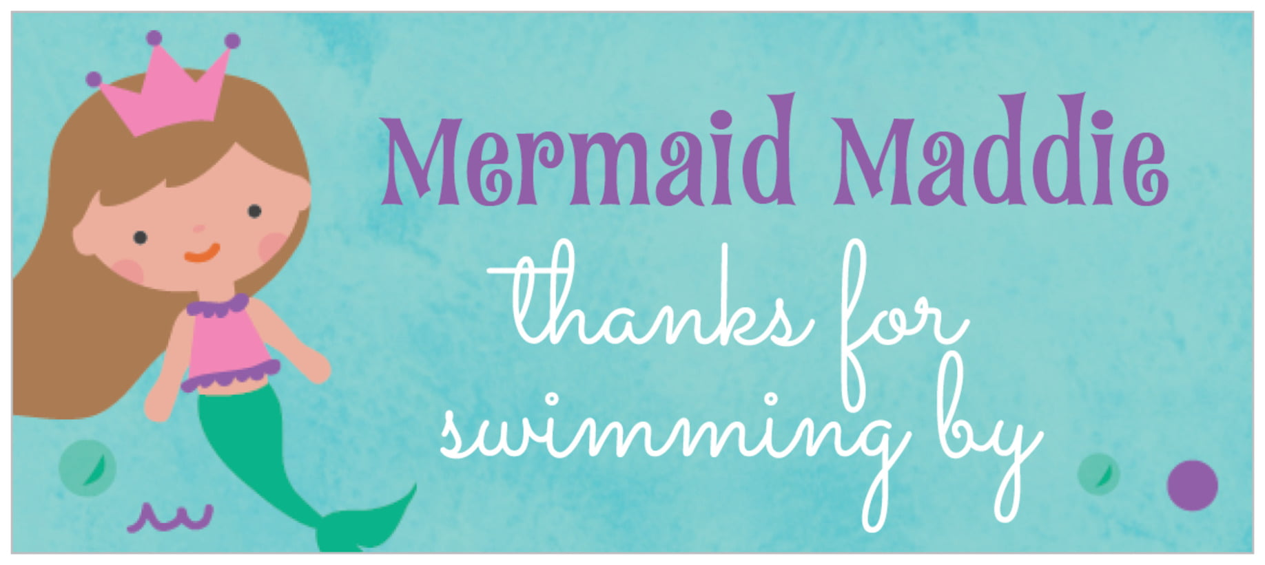 small rectangle food/craft labels - purple - mermaid (set of 24)