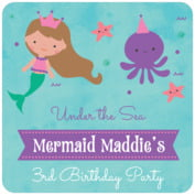 Mermaid baby coasters
