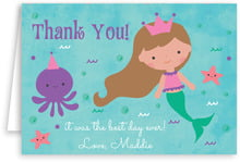 Mermaid folding cards