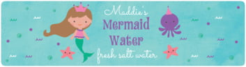 Mermaid bottled water labels
