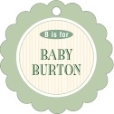 Metropolitan baby shower tags