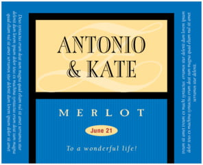 Metropolitan large wide labels