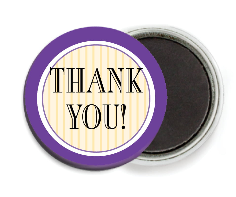 custom button magnets - purple - metropolitan (set of 6)