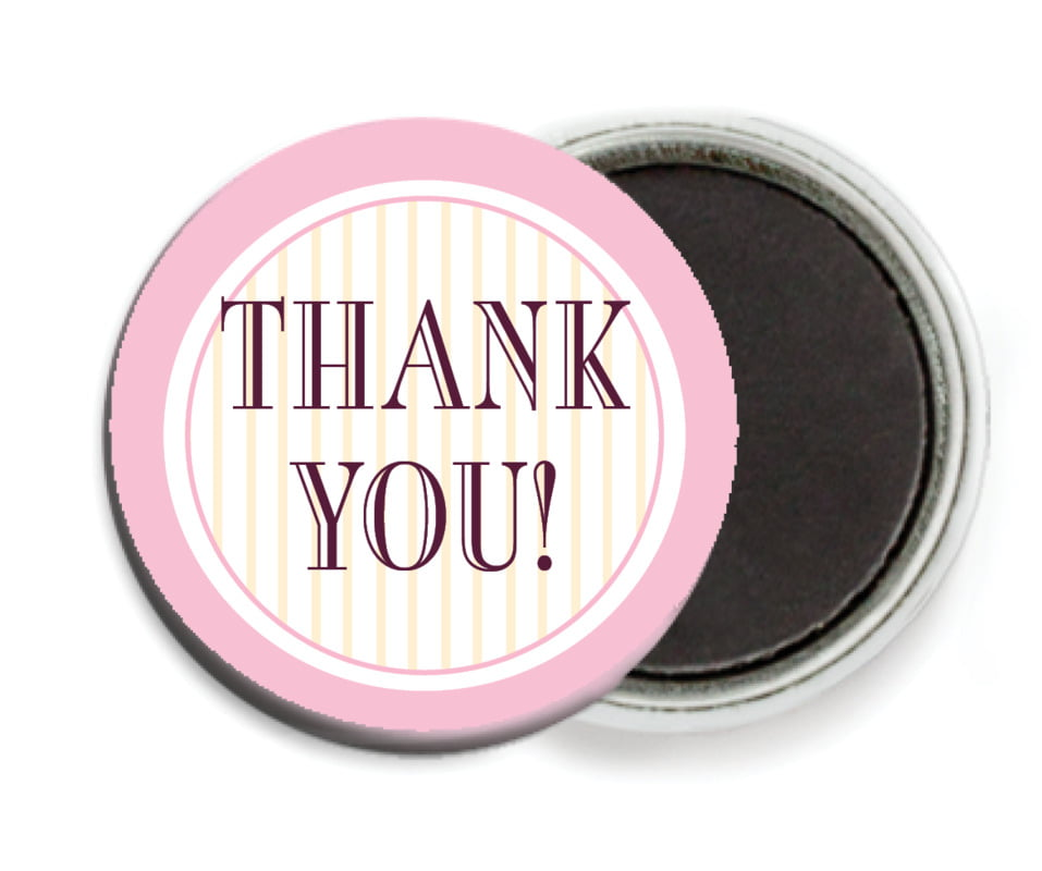 custom button magnets - pale pink - metropolitan (set of 6)