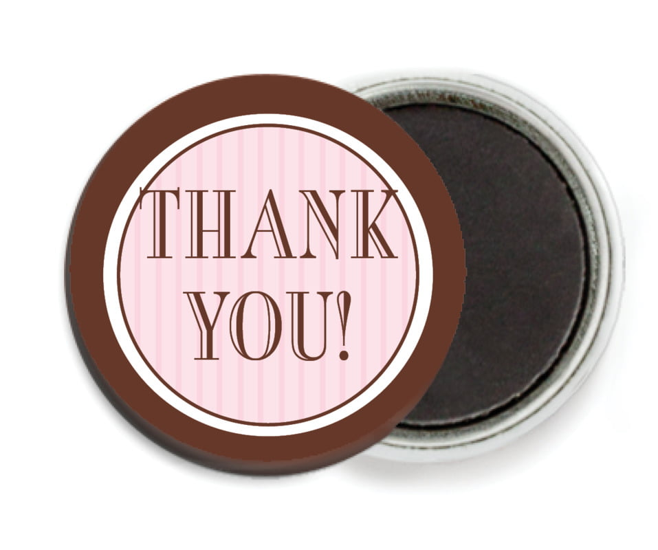 custom button magnets - cocoa & pink - metropolitan (set of 6)