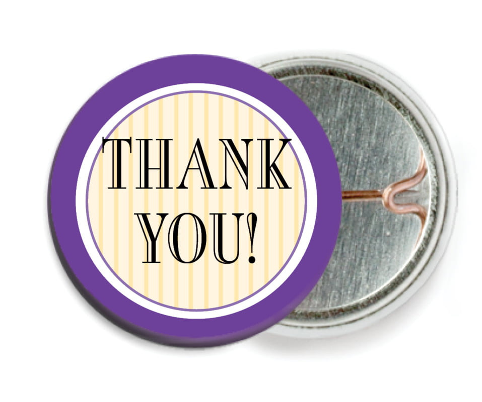 custom pin back buttons - purple - metropolitan (set of 6)