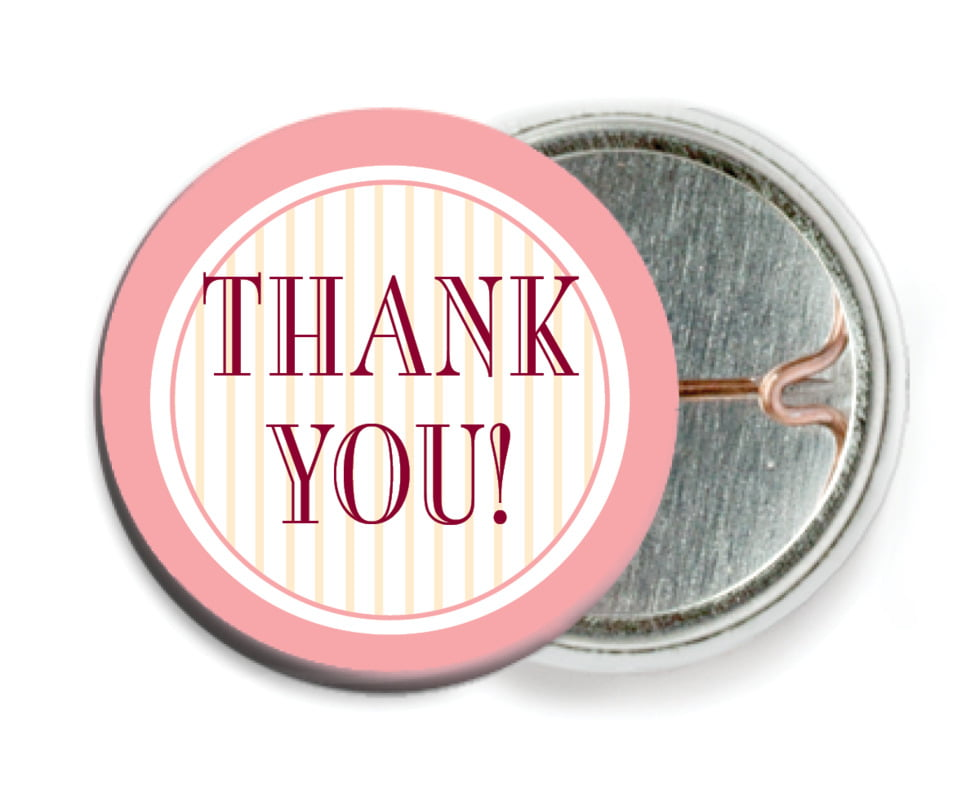 custom pin back buttons - grapefruit - metropolitan (set of 6)