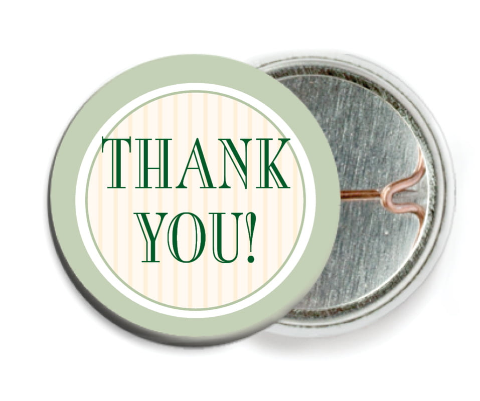 custom pin back buttons - sage - metropolitan (set of 6)