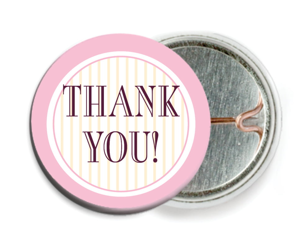 custom pin back buttons - pale pink - metropolitan (set of 6)