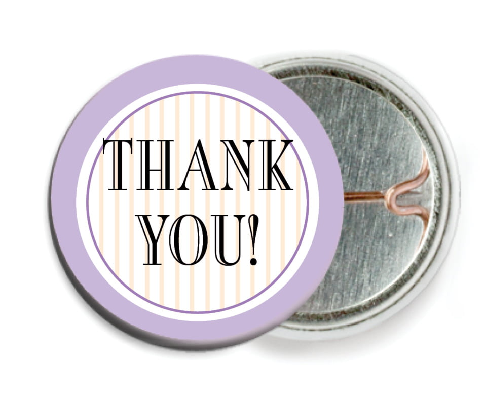 custom pin back buttons - lilac - metropolitan (set of 6)