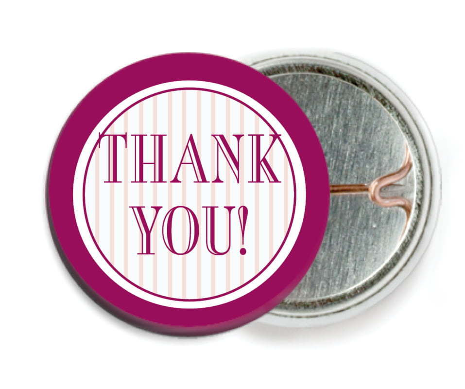 custom pin back buttons - burgundy - metropolitan (set of 6)