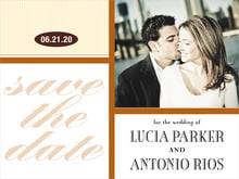 custom save-the-date cards - saddle & ivory - metropolitan (set of 10)