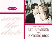 custom save-the-date cards - deep red - metropolitan (set of 10)