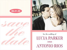 custom save-the-date cards - grapefruit - metropolitan (set of 10)