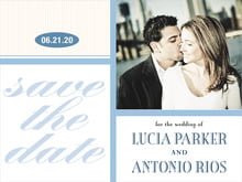 custom save-the-date cards - blue - metropolitan (set of 10)